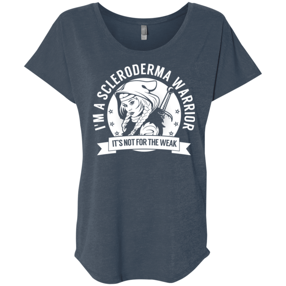 T-Shirts - Scleroderma Warrior Hooded Dolman Sleeve