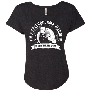 T-Shirts - Scleroderma Warrior Not For The Weak Dolman Sleeve