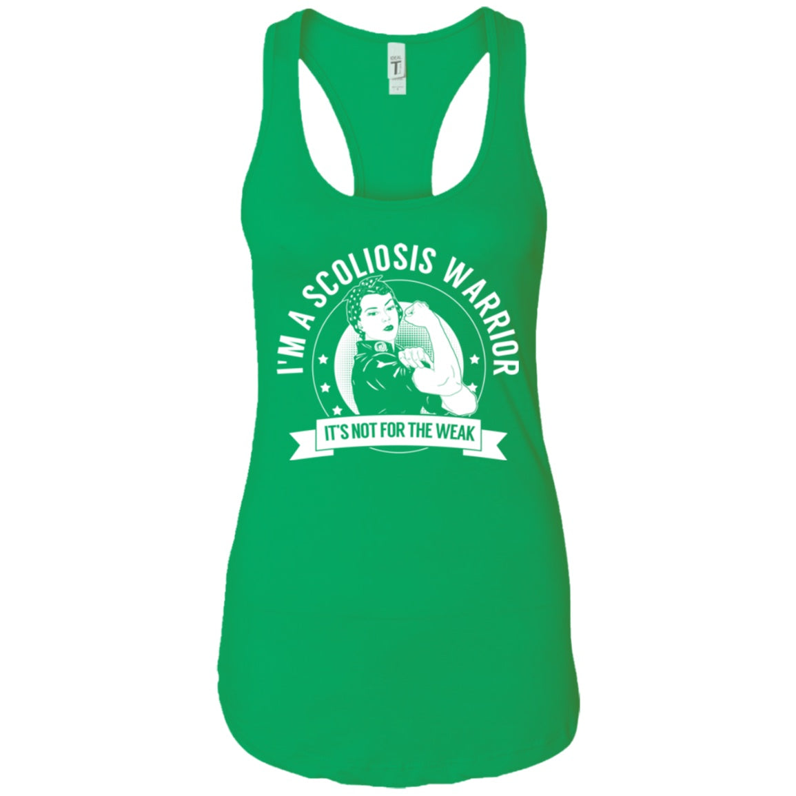 Scoliosis Warrior NFTW Ideal Racerback Tank - The Unchargeables