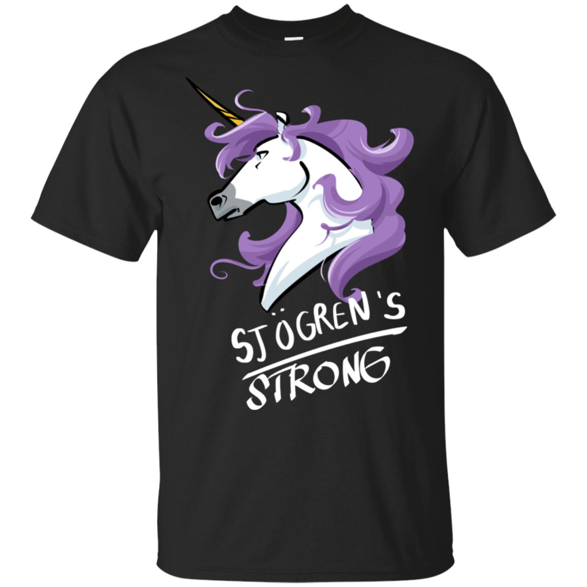 Sjogrens Strong Unicorn Cotton Unisex T-Shirt - The Unchargeables