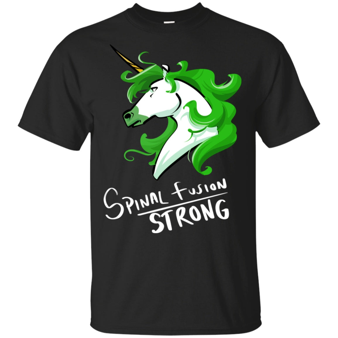 Spinal Fusion Strong Unicorn Cotton Unisex T-Shirt - The Unchargeables