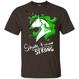 Spinal Fusion Strong Unicorn Cotton Unisex T-Shirt