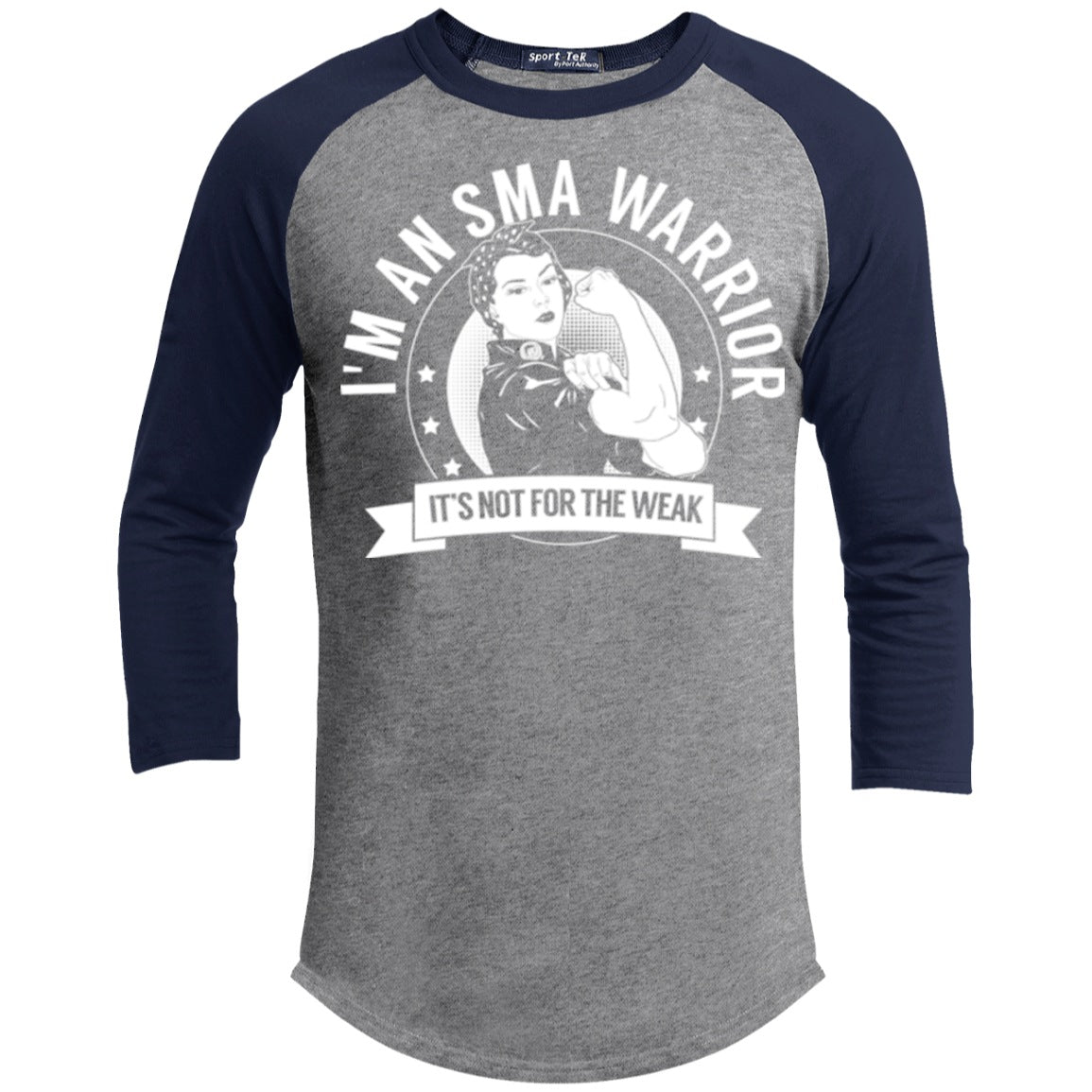 T-Shirts - Spinal Muscular Atrophy - SMA Warrior Not For The Weak Baseball Shirt