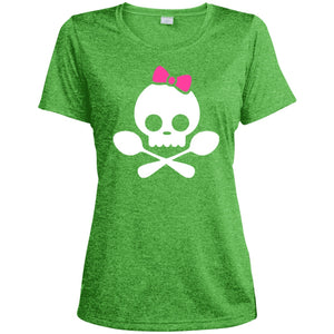 T-Shirts - Spoonie Skull Womens Heather Tee