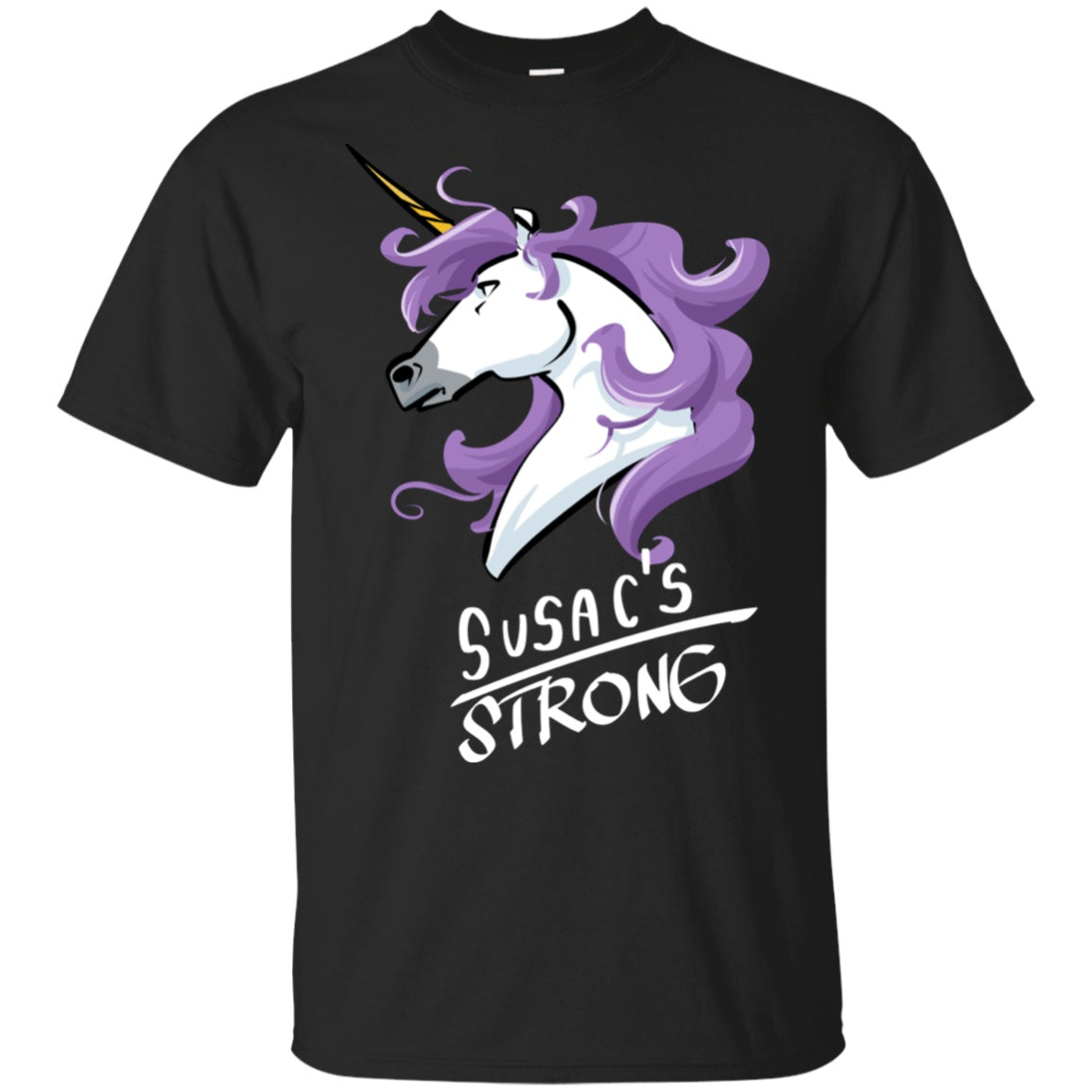 Susacs Strong Unicorn Cotton Unisex T-Shirt - The Unchargeables