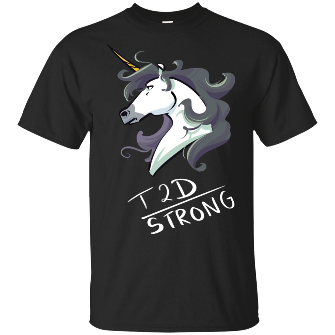 T2D Strong Unicorn Cotton Unisex T-Shirt - The Unchargeables