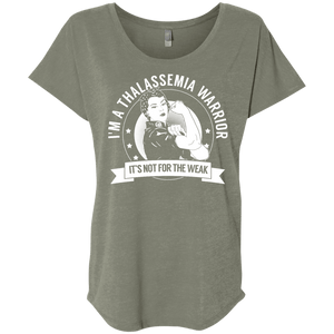 Thalassemia Warrior Not For The Weak Dolman Sleeve - The Unchargeables