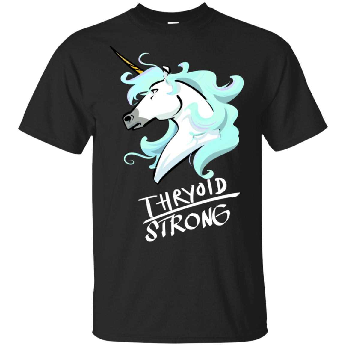 Thyroid Strong Unicorn Cotton Unisex T-Shirt - The Unchargeables