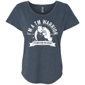 T-Shirts - Transverse Myelitis - TM Warrior Not For The Weak  Dolman Sleeve
