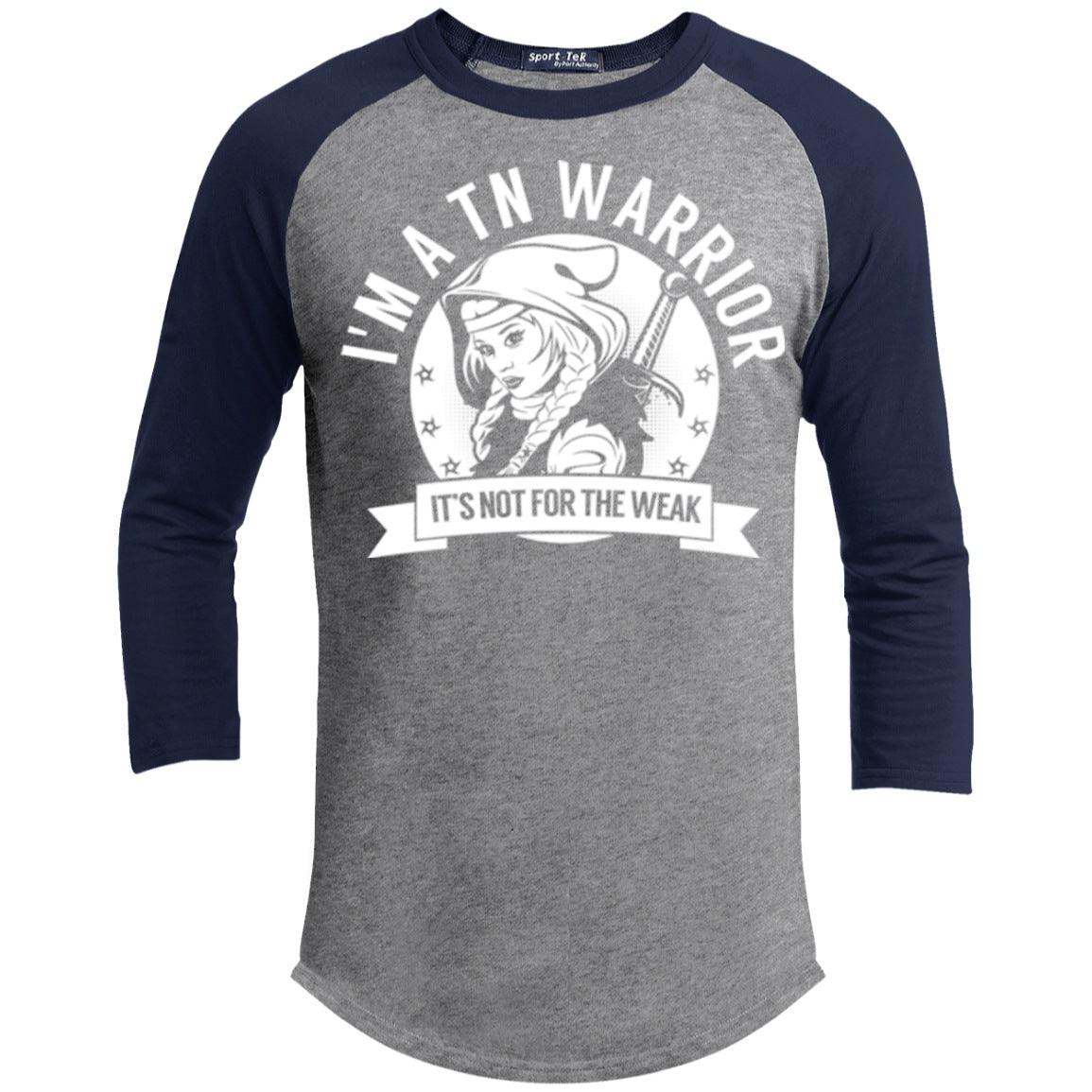 Trigeminal Neuralgia - TN Warrior Hooded Baseball Shirt - The Unchargeables