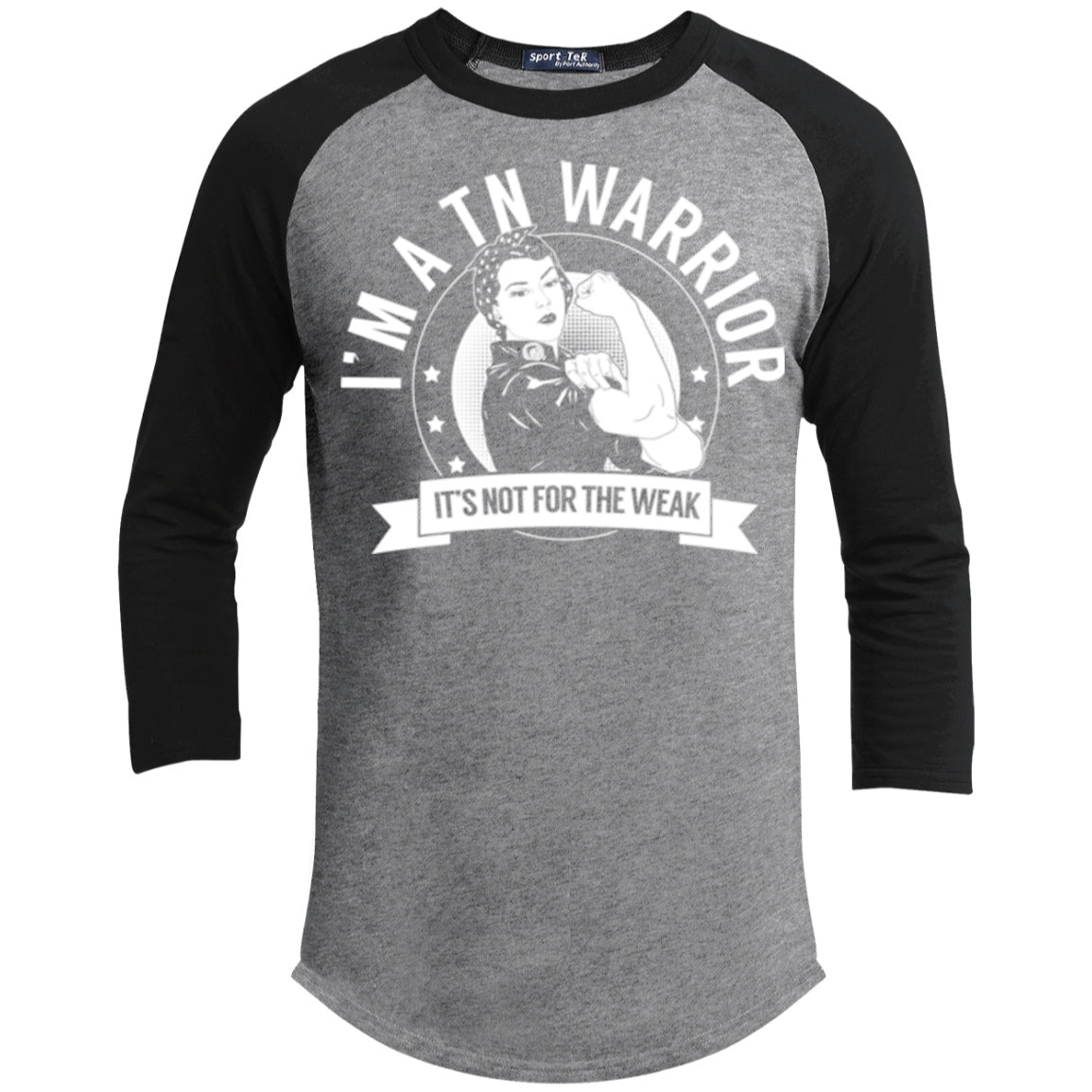 Trigeminal Neuralgia - TN Warrior Not For The Weak Baseball Shirt - The Unchargeables