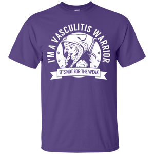 Vasculitis Warrior Hooded Cotton T-Shirt - The Unchargeables