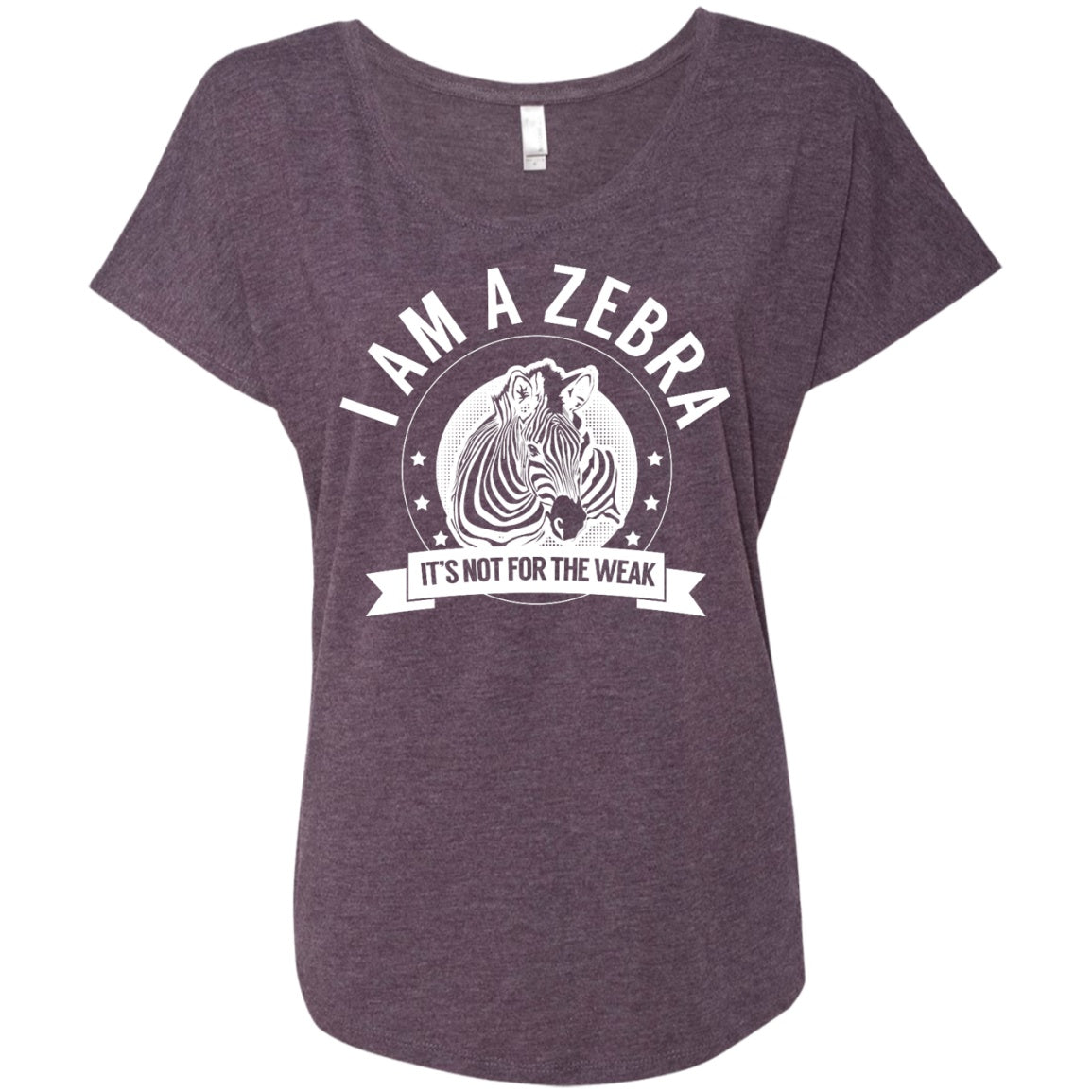 Zebra Warrior Not for the Weak Dolman Sleeve - The Unchargeables
