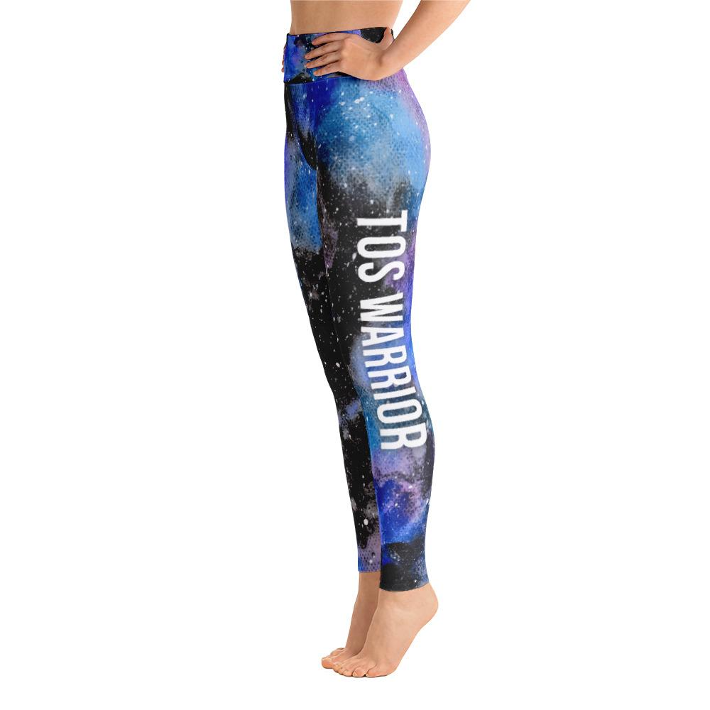 Thoracic Outlet Syndrome - TOS Warrior NFTW Black Galaxy Yoga Leggings With Pockets
