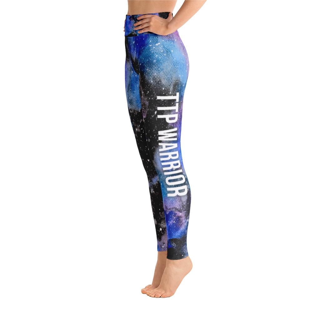 Thrombotic Thrombocytopenic Purpura - TTP Warrior NFTW Black Galaxy Yoga Leggings With High Waist and Coin Pocket - The Unchargeables