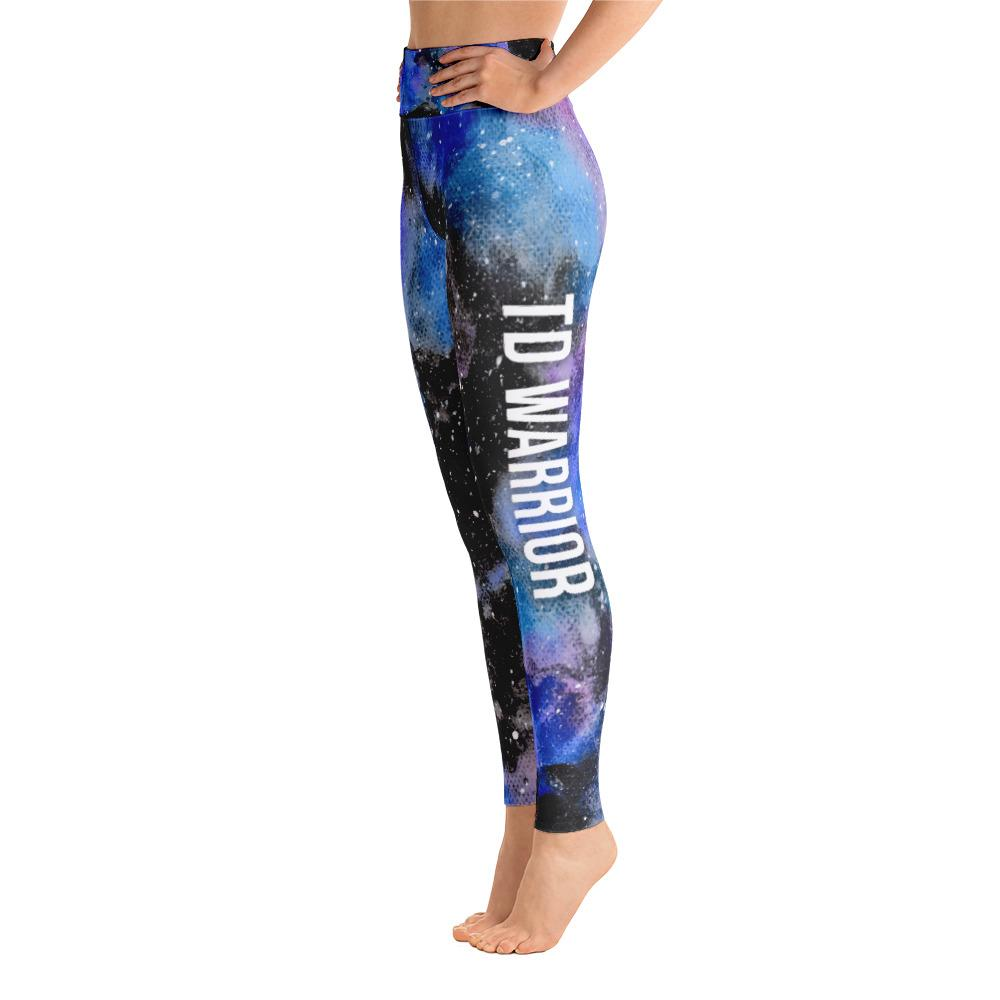 Thyroid Disease - TD Warrior NFTW Black Galaxy Yoga Leggings With Pockets