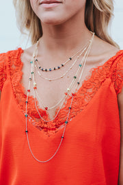 Color Queen Layered Necklace