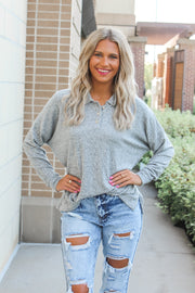 Chill Day In Waffle Knit Top - Mauve