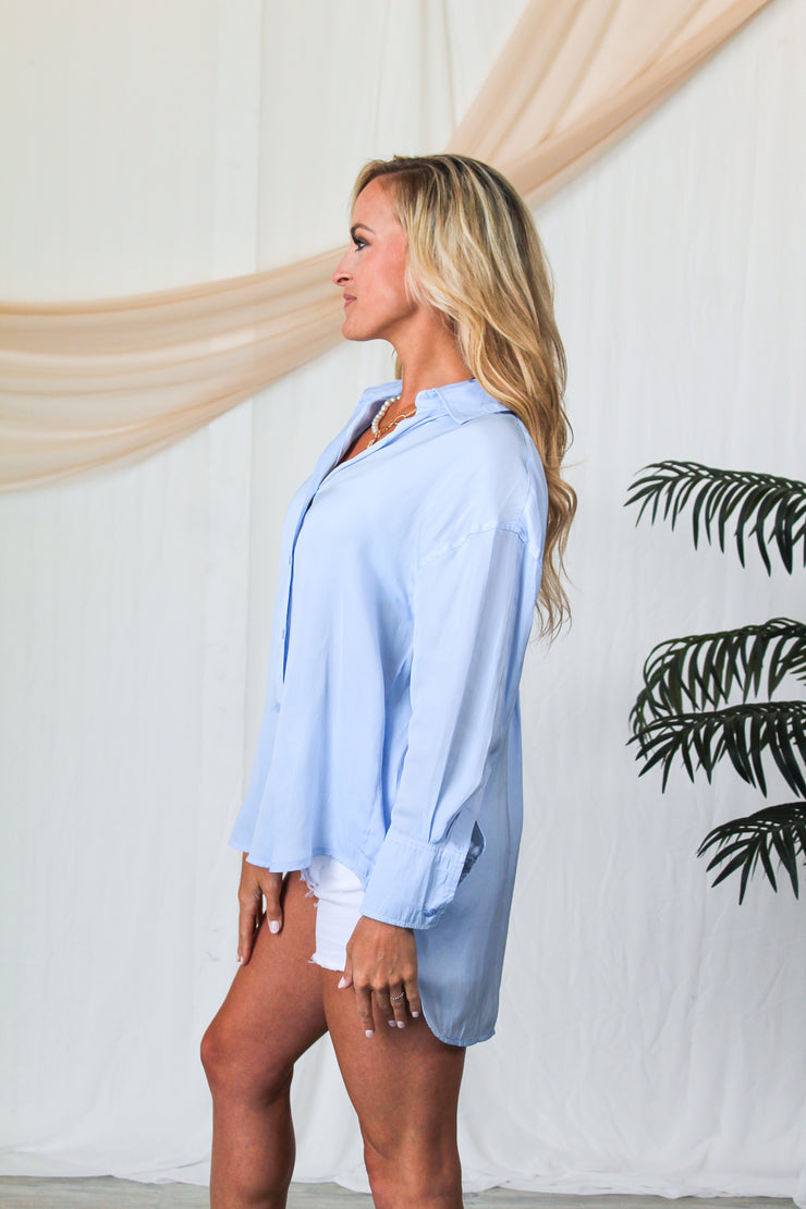 Happy Hour Glam Blouse - Brick