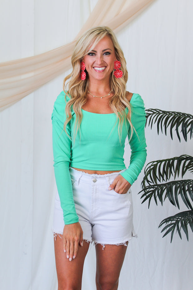 Here For It Lightweight Sweater - Sage