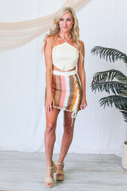 Be Bold Ruched Blazer - Blush
