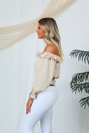 Trendsetter Cutout Top - Taupe