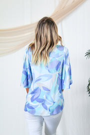 Chic In Cozumel Ruffle Top