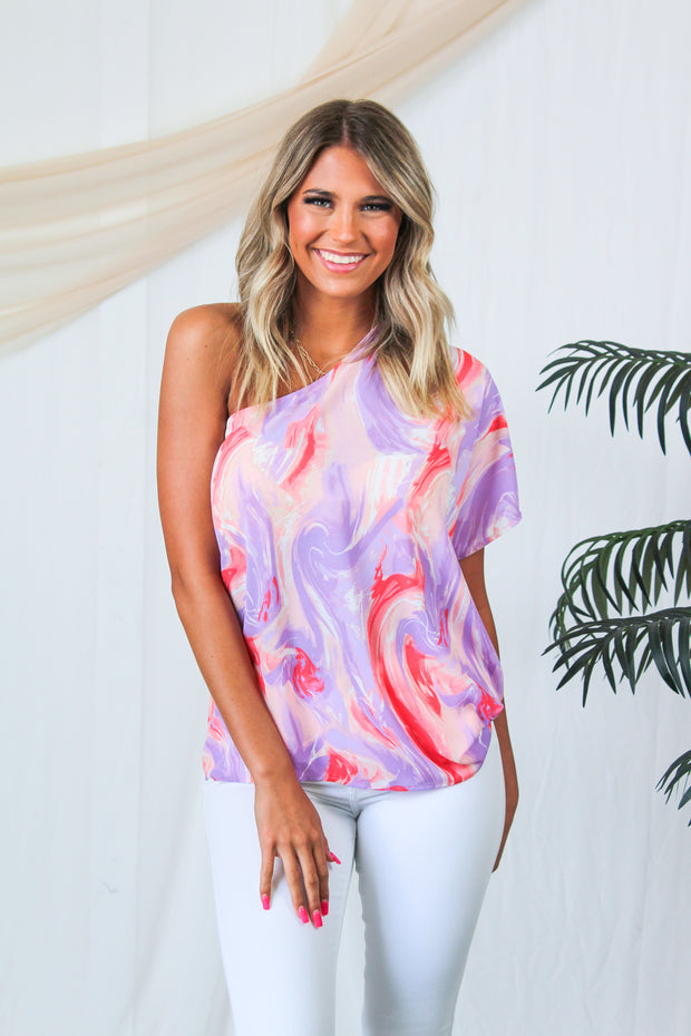 Spring Forward Distressed Sweater - Lavender