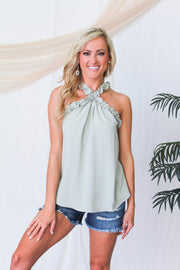 Blush Beauty Dotted Tank