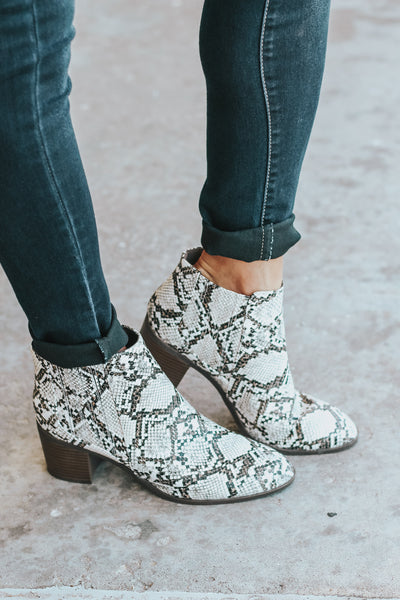 The Corey Snake Print Bootie