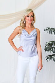The Demi Distressed Shorts - Gray Wash