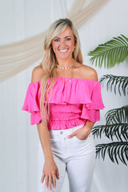 Walk My Way Ruffle Skort - Light Blue