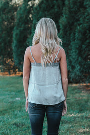 Blog City Lace Tank - Silver
