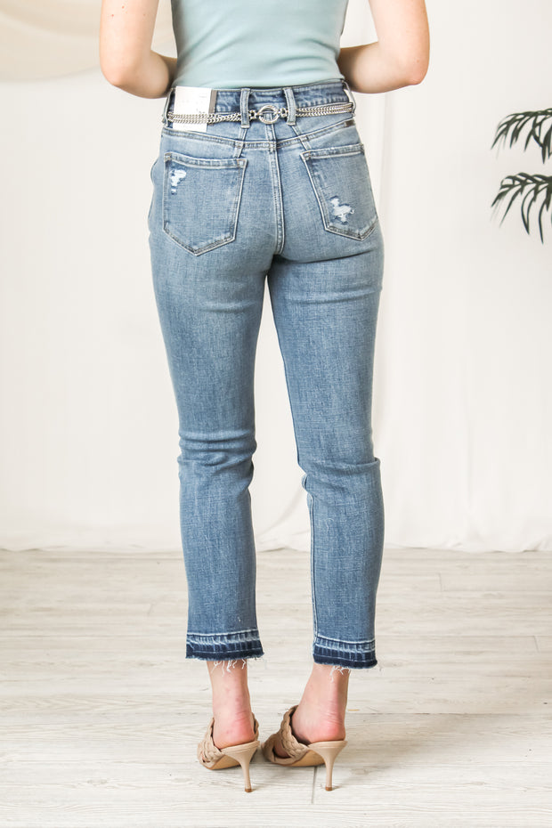 The Gabi Distressed Straight Jeans
