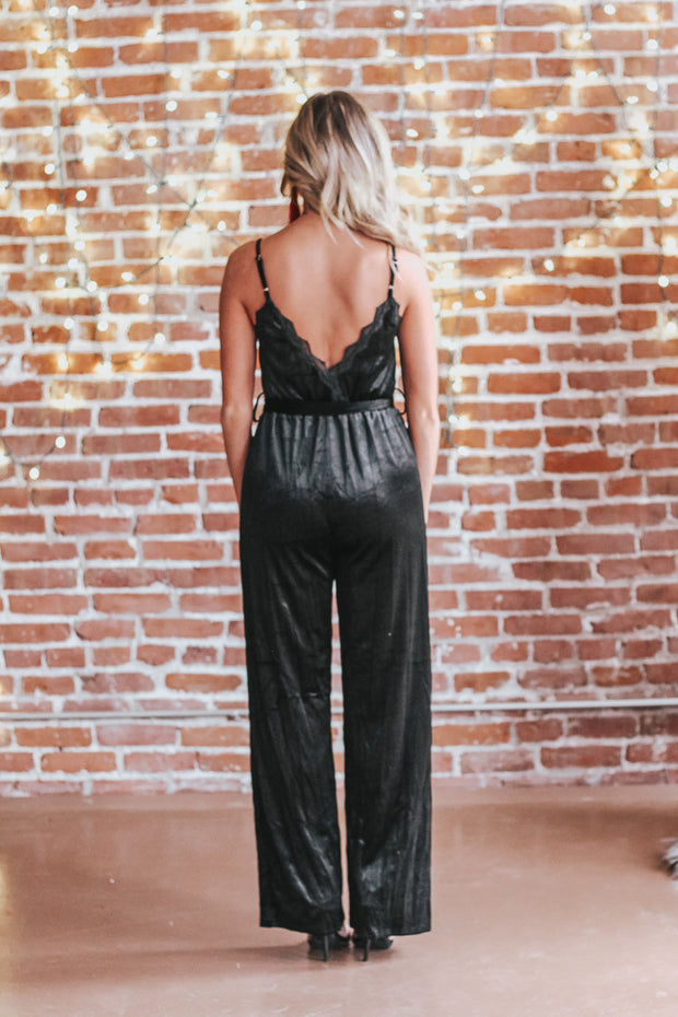 NYE Made Easy Velvet Jumpsuit