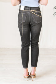The Corey Distressed Flare Jeans - Black