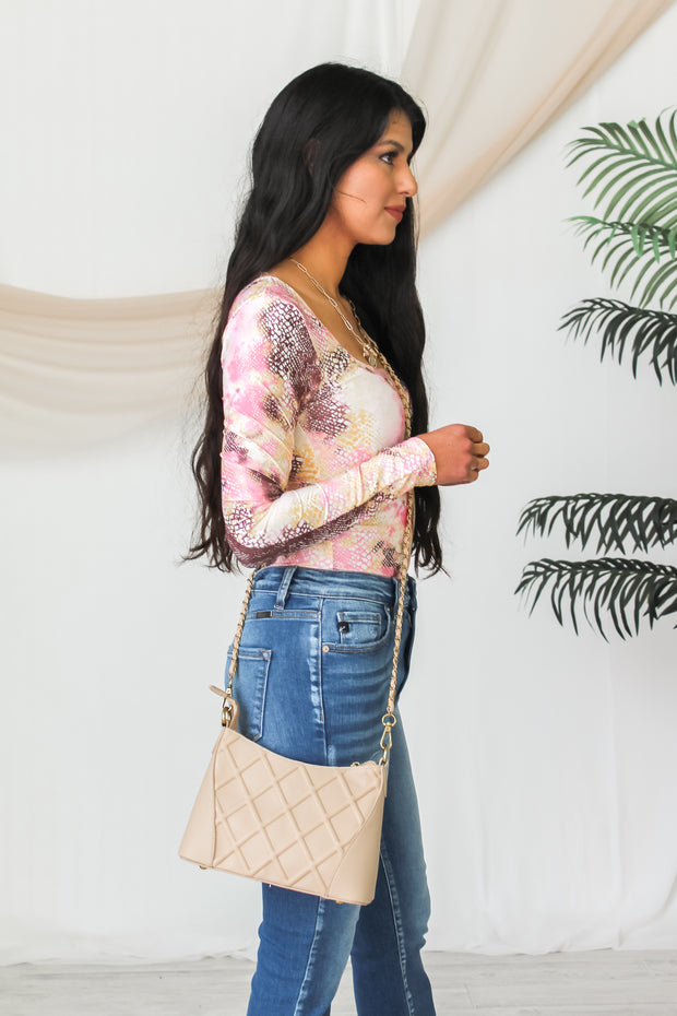 All Yours Chain Crossbody - Taupe