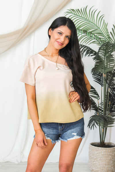 Take Me Anywhere One Shoulder Top - Yellow
