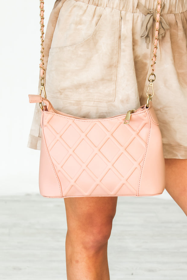 All Yours Chain Crossbody - Blush