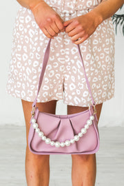 Pretty As A Pearl Shoulder Bag - Lilac