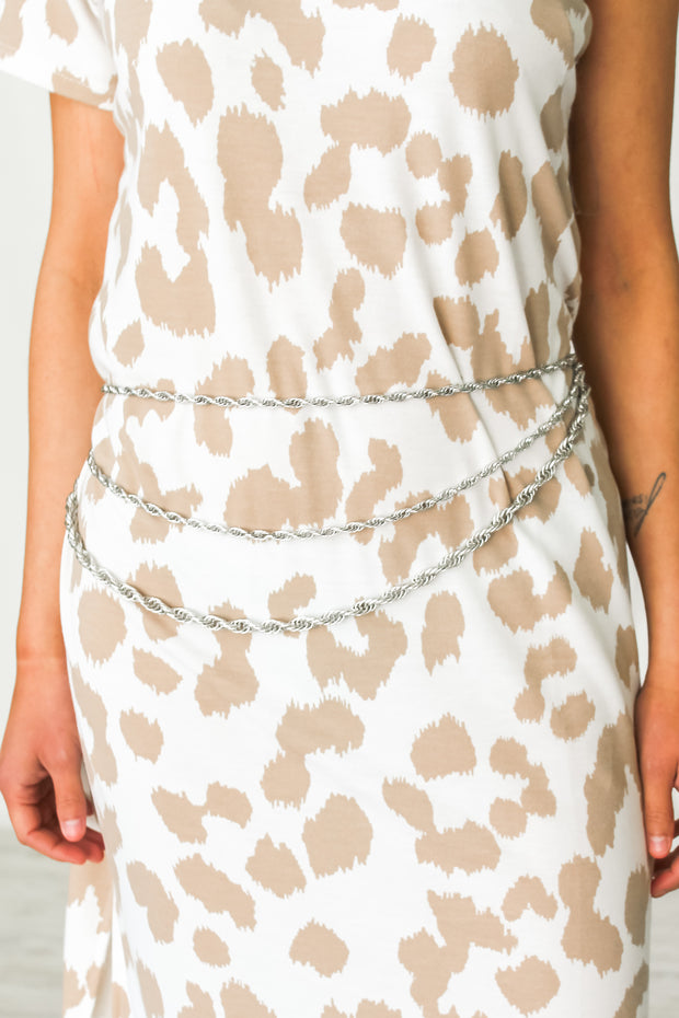 Charmed Rope Chain Belt - Silver