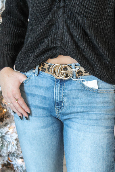 Officially Obsessed Belt - Light Leopard