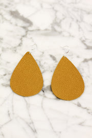 Mustard Leather Earrings