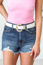 All Around Pearl Belt - White