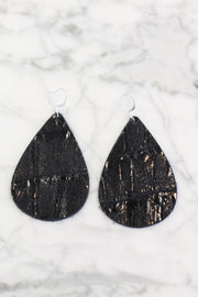 Vintage Flare Leather Earrings
