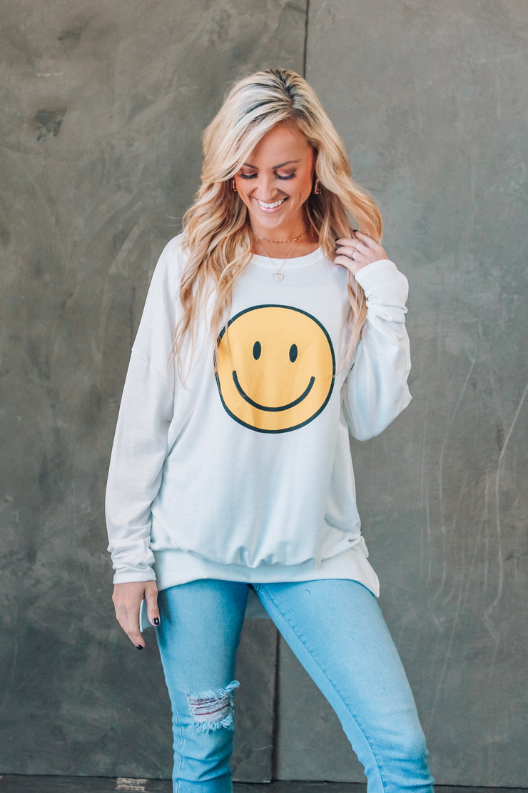 City Gal Frayed Button-Up