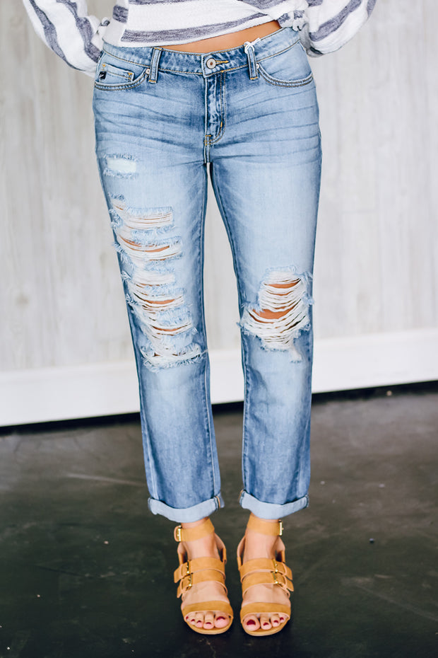 The Mila Distressed Boyfriend Jeans