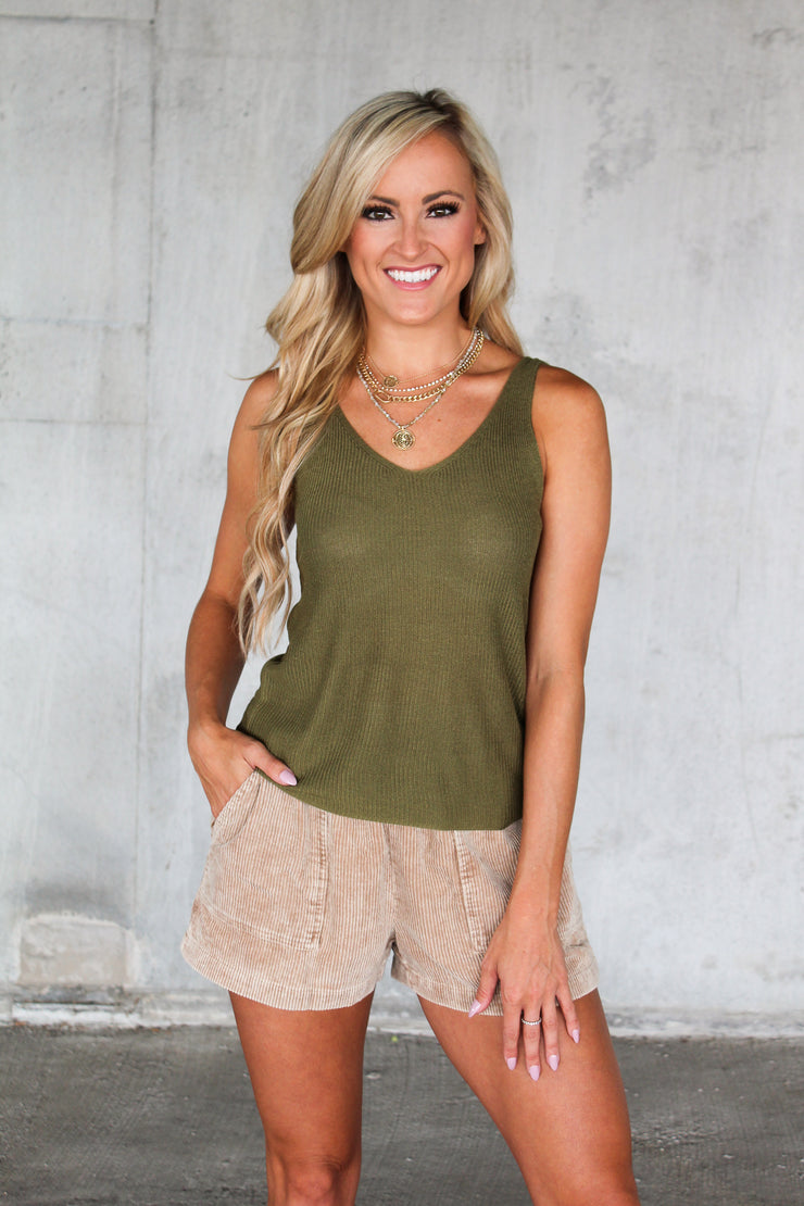 LA Date Night Lace Tank - Taupe