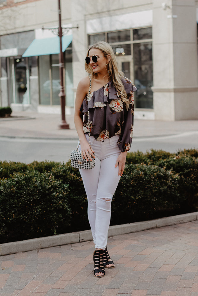 Out On The Town One Shoulder Top