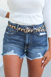 Pop Of Leopard Print Belt